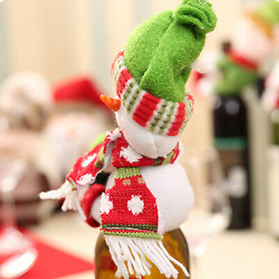 Lovely Wine Bottle Cover Santa Home Xmas Dinner Party TableChristmas Decoration