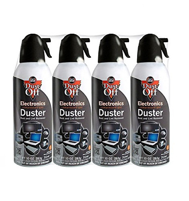 Compressed Duster Air Spray Cleaner Can Computer Keyboard Mouse Blind 4 Set