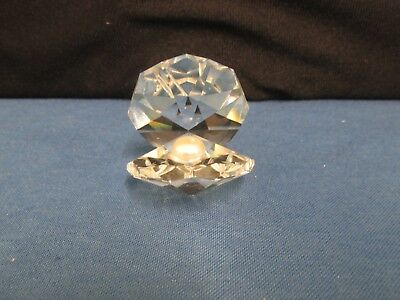 Crystal Oyster With Faux Pearl! Collectable Christmas Gift!