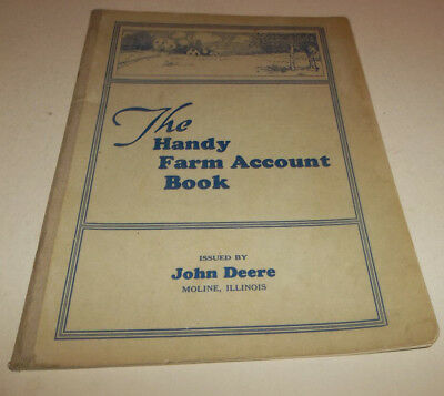 Vtg 1941 John Deere Handy Farm Account Book