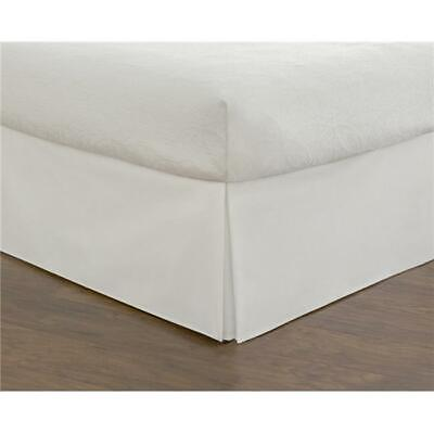 Todays Home Basic Microfiber Tailored 14 in. Bed Skirt White - Queen