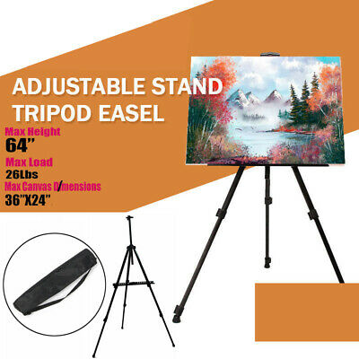 Proable Artist Folding Painting Metal Easel Tripod Display Stand With Carry Bag