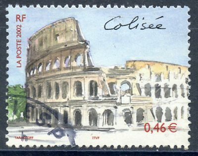 Stamp // Timbre France Oblitere N° 3527 // Rome Le Colisee