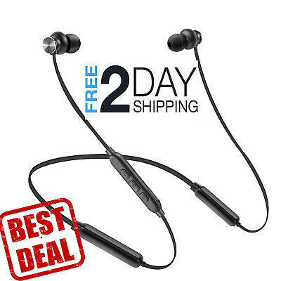 HD Stereo Bluetooth Headset Mic IPX4 Sweatproof for Gym Workout Wireless Earbuds