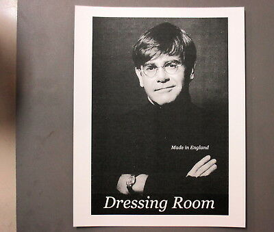 "Elton John Backstage Door Sign ! 8.5"" X 11"" Made In England Dressing Room !"