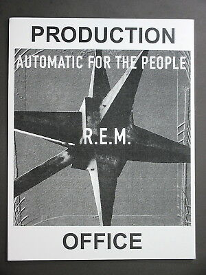 "R.E.M. Backstage Door Sign ! 8.5"" X 11"" Automatic For The People - Office !"