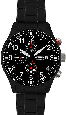 ASTROAVIA XL AIR CRAFT 6E NEW EDITION 6 ZEIGER CHRONOGRAPH 44mm FLIEGERUHR N57BS