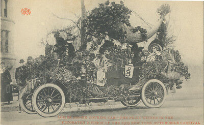 RPPC Lozier Touring Car Winner of 1909 New York Automobile Carnival
