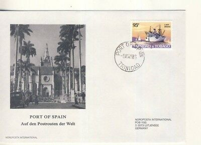 HAPAG Ganzsache Brief Trinidad & Tobago Port of Spain Westindien Karibik 1988