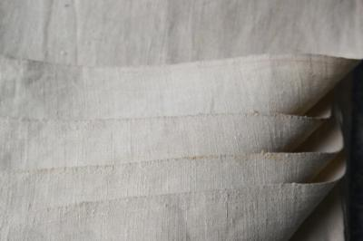 """VINTAGE FRENCH LINEN SHEETING, UNUSED FABRIC, UPHOLSTERY 100x43"""" #N1"""