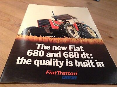 Fiat 680 and 680dt Tractor Brochure Leaflet