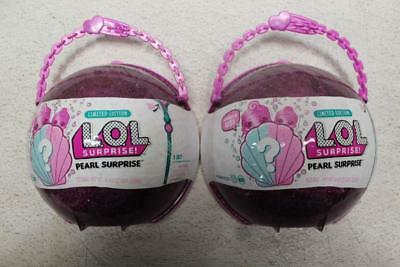 Lot Of 2 L.O.L. Surprise! Pearl Style 2 Unwrapping Toy LOL