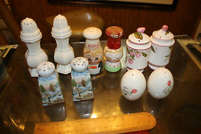 Vintage Mixed lot of 5 Salt & Pepper Shakers Lot #3 WOW LOOK  JSH