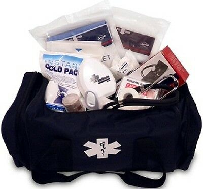 New MedSource Fully Stocked EMT Paramedic Medical Attack Bag Deluxe