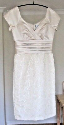 Madeleine Oyster Cocktail Dress . Knee Length. Fitted. Size 10. Brand New W Tags