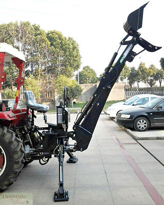 BACKHOE TRACTOR ATTACHMENT BH8600 Bucket PTO 3 Pt Link - Excavator Hydraulic New
