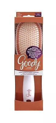 Goody Clean Radiance Paddle Hair Brush with Copper Bristles and Hanging Hole ""