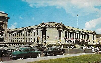 postcard 1947 Studebaker Champion-banners July 4th? Shelby Courthouse Memphis TN