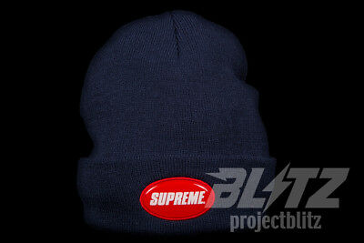 173b0d7c5a808 SUPREME RUBBER PATCH Beanie White SS18 New In Hand 100% Authentic ...