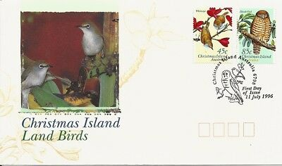 1996 Christmas Island - Land Birds of Christmas Island First Day Cover FDI