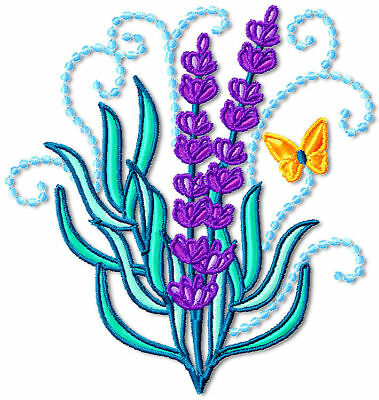 Lavender  10 Machine Embroidery Designs Cd 2 Sizes
