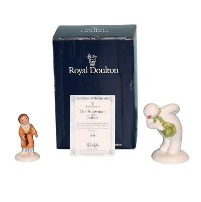 Royal Doulton The Snowman & James Limited Edition Hand Made Figurines