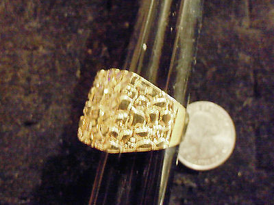bling gold plated casino GAMBLING fashion nugget ring hip hop JEWELRY GP size 8