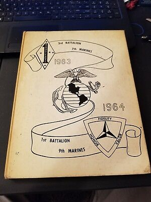 1963 1964 1st Battalion 9th MARINES Military Yearbook ~ Great Photos! t3