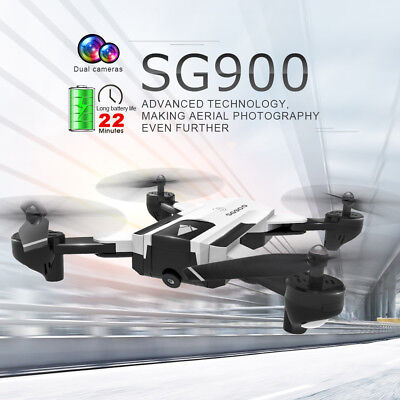 SG900 RC Drone 720P Wifi FPV Optical Flow Positioning 22mins Gesture B3Z0