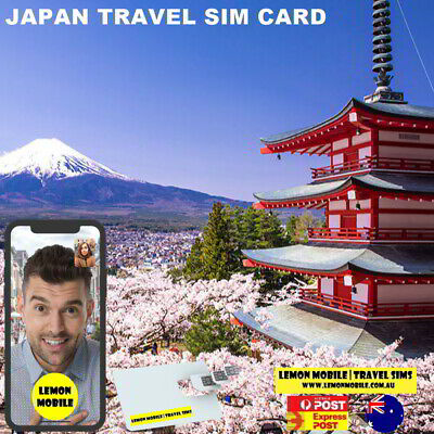 $2 a day! 15 Days Japan Travel SIM Card | Unlimited Data | DoCoMo Network