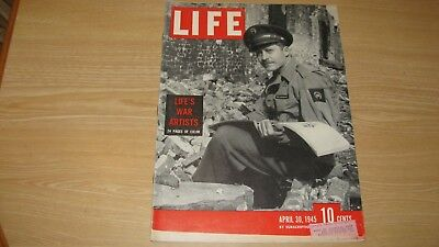 1945 Life Magazine April 30    War Artists   High Grade Lowest Price On Ebay