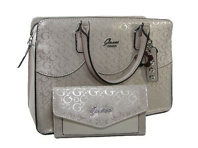 ea63f2b9c4 Guess G Logo Purse Satchel Crossbody Hand Bag   Wallet Matching Set 2 Piece  NWT