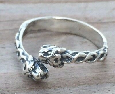 Celtic Lion Ring .925 Sterling Silver Adj. sz 6 - 9 - Goddess Ishtar Lion