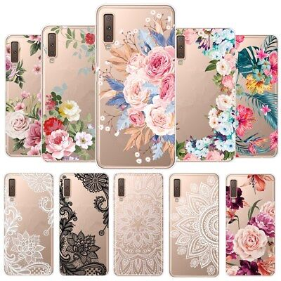 For Samsung Galaxy Note 10 Plus S9 Mandala Flower Soft TPU Clear Back Case Cover