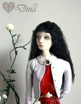 When I Grow Up - OOAK art-doll sculpture by Dina (44cm)