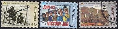 1991 In Memory of Those Who Served set of 3 used Australian decimal stamps