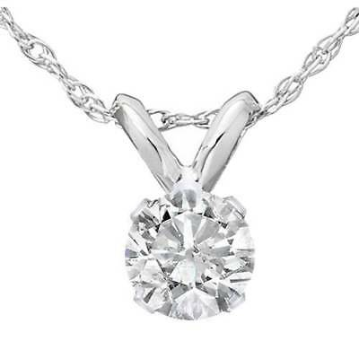 1/3 Ct Diamond Solitaire Pendant Available in 14k White Or Yellow Gold