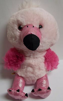 """Build A Bear Pink Flamingo Smallfrys 8"""" Plush - Cute For Valentines Day!"""