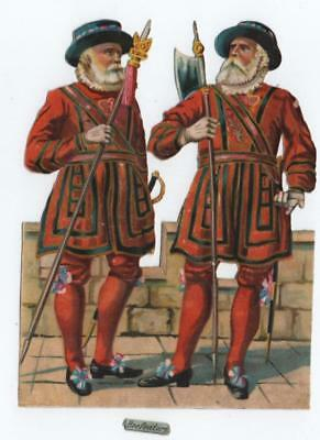 Large Victorian Die Cut Scrap 2 Beefeaters