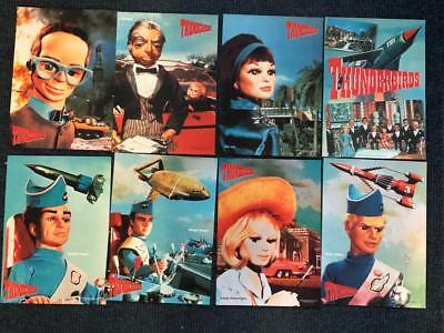 Thunderbirds mini posters x 8 Gerry Anderson 9.5 x 7 inches