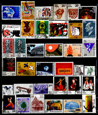 India: 1970's Stamp Collection With Sets