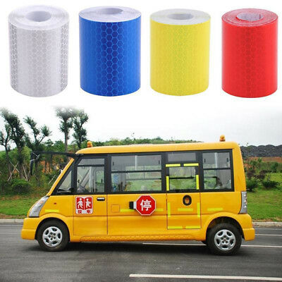 AM_ FM- 1m x 5cm Reflective Safety Warning Conspicuity Tape Film Car Body Sticke