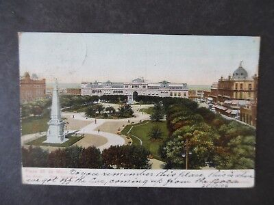 1906 Buenos Aires Argentina Plaza Birdseye View Postcard Used to Scotland