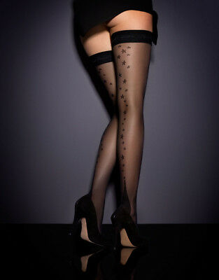79805ff0ec0 AGENT PROVOCATEUR NYLON Fully Fasionned Hold Ups Champ Size A ...