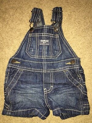 Baby Boys OshKosh Bgosh Denim Overalls Shorts Carpenter Shortalls 3 Months