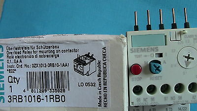 Relais Thermique : 0,1- 0,40A Siemens Sirius 3Rb1016 - 1Rb0  Overload