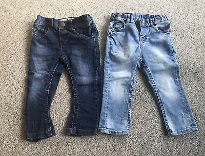 2 X Baby Boys Jeans Next And H&M 9-12 Months