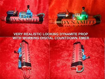 Prop Dynamite Bomb With Working Countdown Led Timer Very Realistic Looks So Real