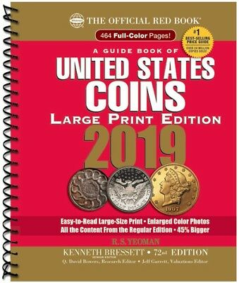 2019 Official Red Book Price Guide Of United States Coins, Large Print