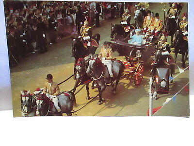 1981 Postcard Carriage Of Queen Elizabeth With Prince Philip,st Paul's Cathedral